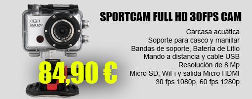 3go SportCam Full HD 30fps (84,90 €)